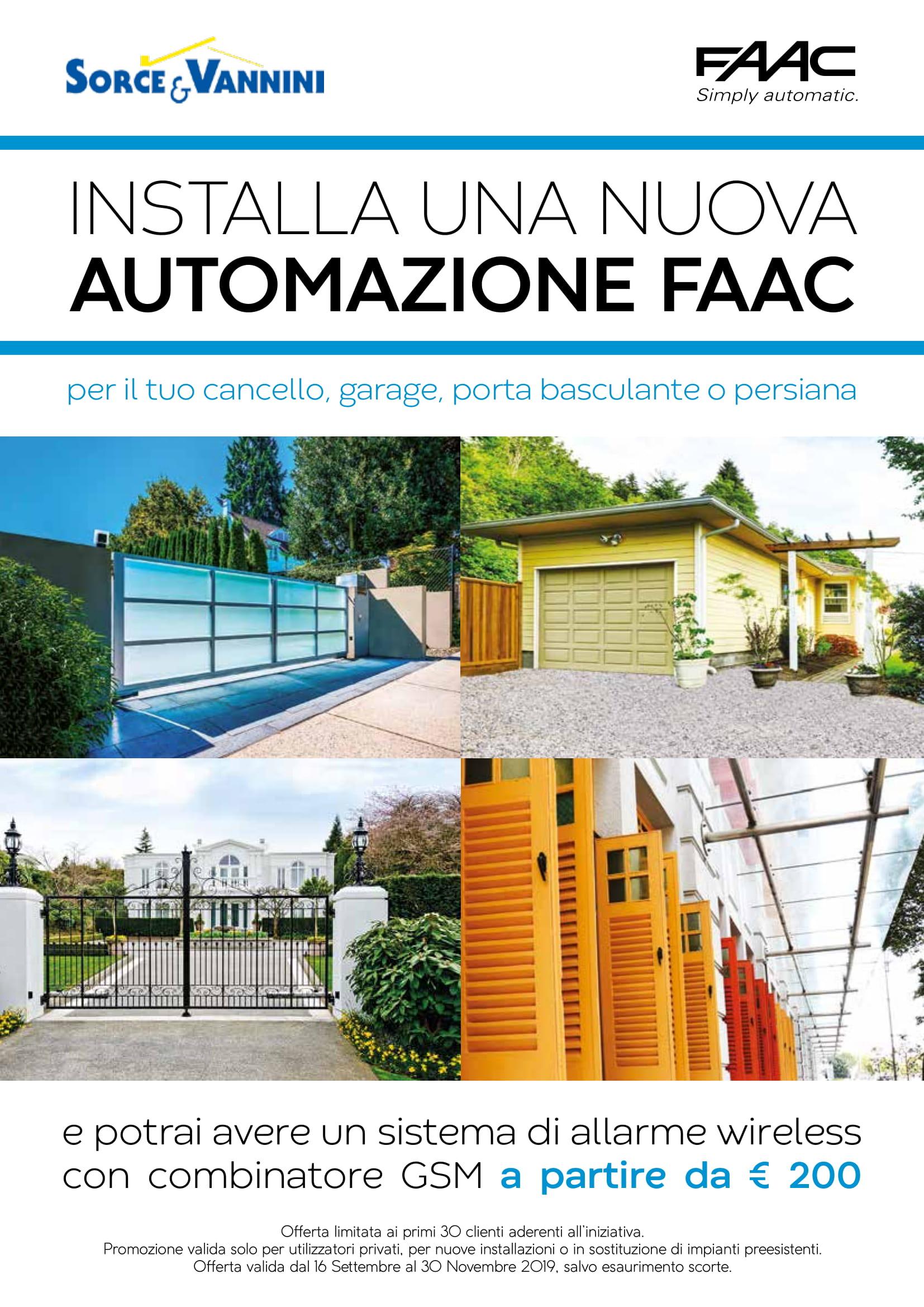 Promozione Sorce e Vannini FAAC 2019